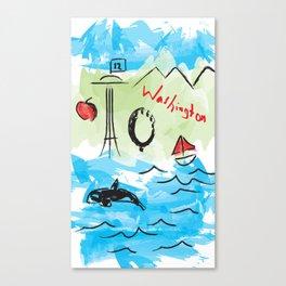 City scape - Seattle, Washington Canvas Print