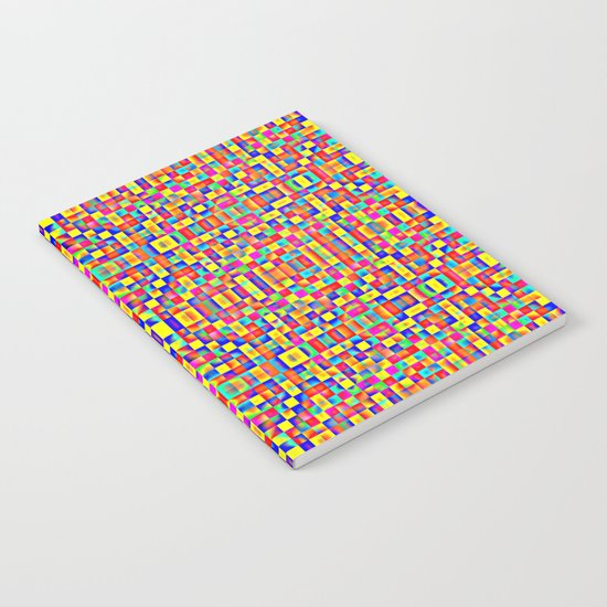 Rainbow Mosaic Pixels Notebook