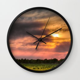 As the Sun Sets Wall Clock