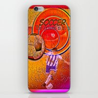 soccer iPhone & iPod Skins featuring Soccer by Ticopage designs