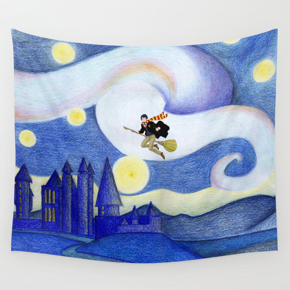 Legend Of The Hogwarts Wall Tapestry by Skyland TPS6783487