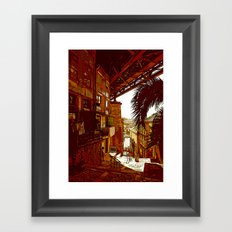 escadas codecal Framed Art Print