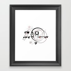 Pen Game Framed Art Print