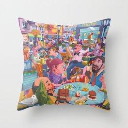 Terace BP soft colors Throw Pillow