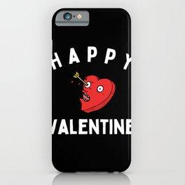 Anti Valentinstag Geschenk mit Herz iPhone Case