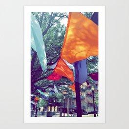 River Market Flags Art Print