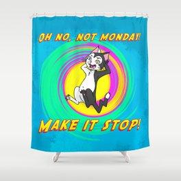 Niels Feynman | Erwin hates Mondays Shower Curtain