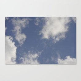 Blue sky and clouds Canvas Print