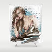 olivia joy Shower Curtains featuring Olivia by Anna Sun