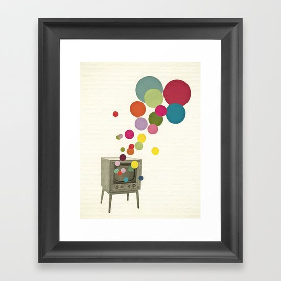 Colour Television Framed Art Print