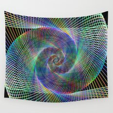 Fractal spiral Wall Tapestry