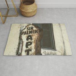 Sir Palmer Apts. Vintage Sign, Echo Park Rug