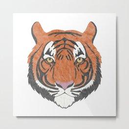 Paper Tiger Metal Print