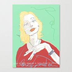 Clarice Lispector Canvas Print