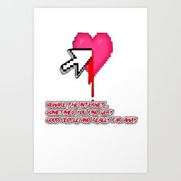 Beware The Internet Art Print