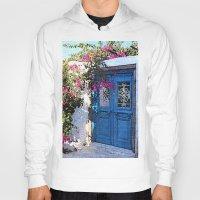 doors Hoodies featuring Santorini Doors by Brian Raggatt