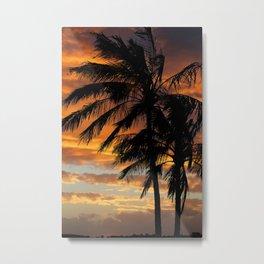 Tropical Palm Silhouette Metal Print