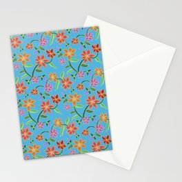 Cyan Batik Stationery Cards
