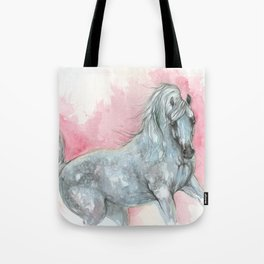 arabian horse on pink background Tote Bag
