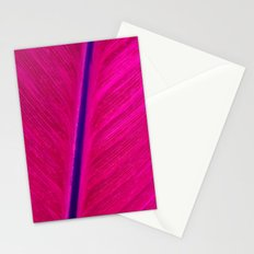 pink leaf Stationery Cards