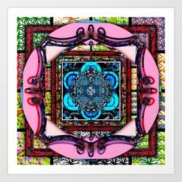 framed p2 Art Print