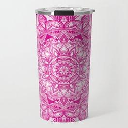 Pink Madala Pattern Travel Mug