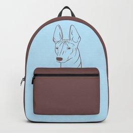 Xoloitzcuintli (Light Blue and Taupe) Backpack