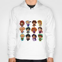 percy jackson Hoodies featuring Chibis of Olympus by chubunu
