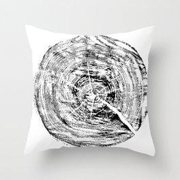 Fragment pine Throw Pillow