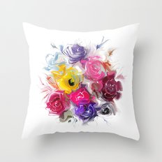 bouquet of roses Throw Pillow