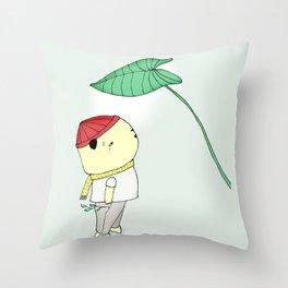 Elephant Ear Taro Throw Pillow