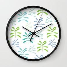 Bromeliads - sea glass Wall Clock