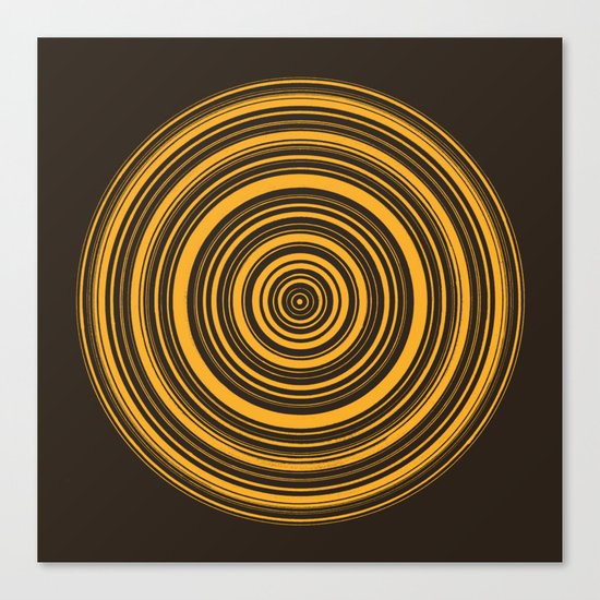Orbis (On Brown) Canvas Print