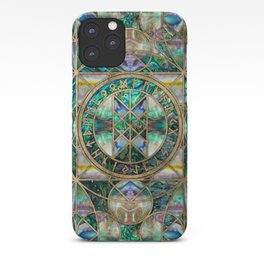 Web of Wyrd The Matrix of Fate -Abalone Shell iPhone Case