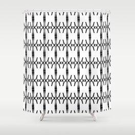 Eta - Greek Fonts Patterns_Alphabet Shower Curtain