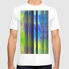 Yellow Color Blinds MEDIUM White Mens Fitted Tee