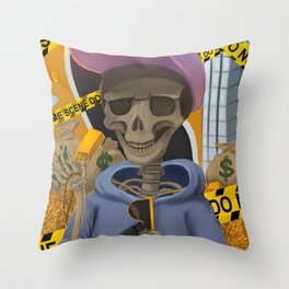 Death of Greed Throw Pillow