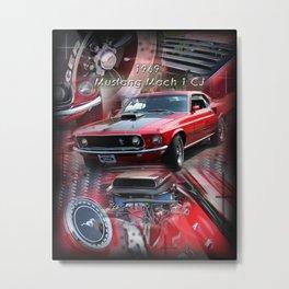 1969 Mustang Mach 1 CJ Metal Print