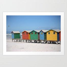 southafrica ... muizenberg beach huts IV Art Print
