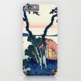 Katsushika Hokusai - 36 Views of Mount Fuji (1832) - 35: A View of Mount Fuji Across Lake Suwa (Lake iPhone Case
