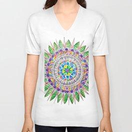 Rainbow Forest Mandala Unisex V-Neck