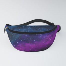 Blue, Purple, and Pink Nebula Fanny Pack