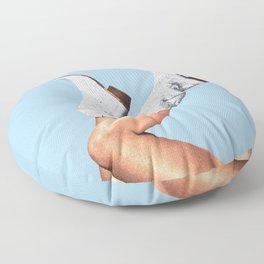 These Boots - Glitter Blue Floor Pillow