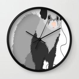 Funny Music Loving Ferret copy Wall Clock