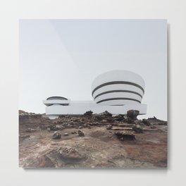 Misplaced Series - Solomon R Guggenheim Museum Metal Print