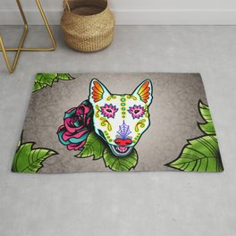 Bull Terrier - Day of the Dead Sugar Skull Dog Rug