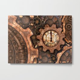 Steampunk Mood Metal Print