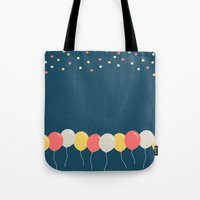 baloon Tote Bags featuring Baloon by ARIS8