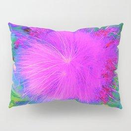 Psychedelic Purple Garden Milkweed Flower Pillow Sham