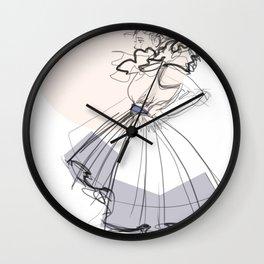 Poofy Dress Wall Clock